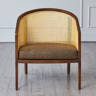 Reed Cane Back Chair - Muslin