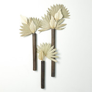 Ridges Tube Wall Vase - Bronze - Sm