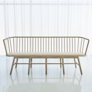 Spindle Long Bench - Muslin