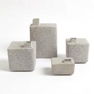 Square Chimney Vase - Grey - Med