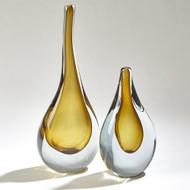 Stretched Neck Vase - Amber - Sm