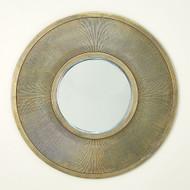 Sunray Mirror - Antique Brass