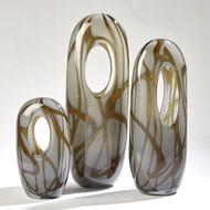 Swirl Vase - Amber/Grey - Med