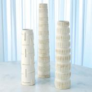 Totem Vase - Antique White - Lg