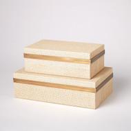 Vaux Hall Box - Woven Raffia - Sm