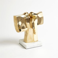Abstract Dual Figure Sculpture - Brass