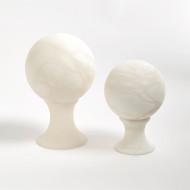 Alabaster Sphere Stand - Lg