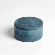 Alabaster Swivel Box - Blue
