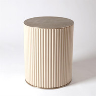 Camille Side Table - White Bronze