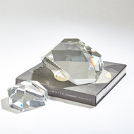 Crystal Paper Weight - Clear - Lg