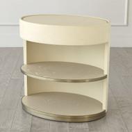 Ellipse Bedside Cabinet - Ivory