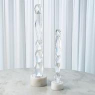 Facette Column Sculpture - White Base - Lg