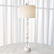 Facette Lamp W/White Marble Base