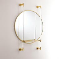 Hadley Mirror - Brass w/Glass Shelf