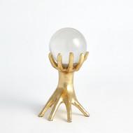 Hands on Sphere Holder - Gold Leaf - Sm