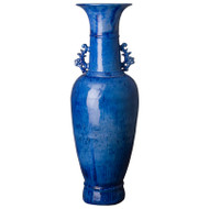 Tall Two - Handle Vase - Blue