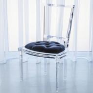 Marilyn Acrylic Side Chair - Admiral Blue