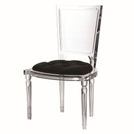 Marilyn Acrylic Side Chair - Black