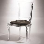 Marilyn Acrylic Side Chair - Pewter