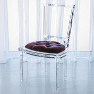 Marilyn Acrylic Side Chair - Sultana - Lavender