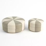 Peppermint Box - Light Grey/Ivory - Lg