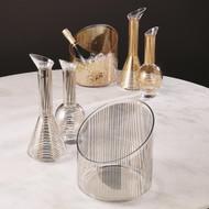 Platinum Stripe Wine Decanter - Cone