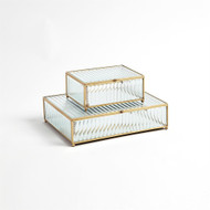 Reeded Glass Box - Clear - Sm