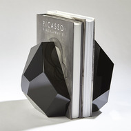 S/2 Crystal Bookends - Black
