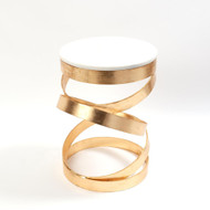 Spiral Table - Gold Leaf