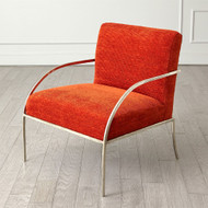 Swoop Chair - Orange - Nickel