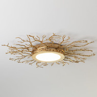 Twig Ceiling Fixture - Brass