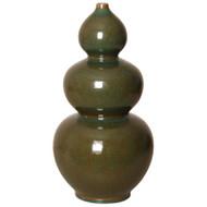 Triple Gourd Vase - Amazon Green