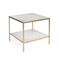 Austin A. James' New Orleans White Gold End Table with Shelf