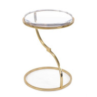 Antique Brass Accent Table