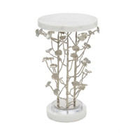 Marble and Brushed Nickel Branch Martini Table