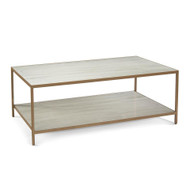 Austin A. James' New Orleans White Gold Coffee Table with Shelf