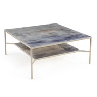 Shaye Rawson's Spring Rain Cocktail Table with Shelf
