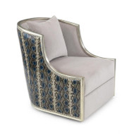 Ticinese Swivel Lounge Chair - Designer Fabric