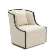 Ticinese Swivel Lounge Chair - Solid Fabric