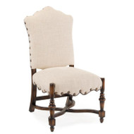French Linen Dining Side Chair