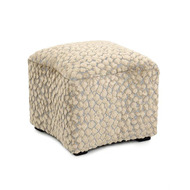 Curved Ottoman - Spotted Velvet