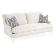 Scoop-Arm Sofa with Toss Pillows - Cream
