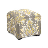 Curved Ottoman - Damask