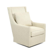High-Back Swivel Glider Chair - Solid Fabric
