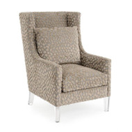High-Back Wing Chair - Spotted Velvet