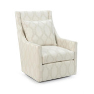 High-Back Swivel Glider Chair - Medallion Fabric