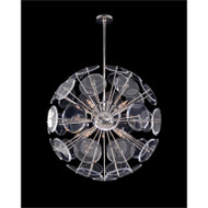 Genesis: Acrylic Sphere Ten-Light Pendant in Polished Nickel