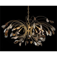 Agate and Brass Eight-Light Chandelier
