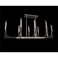 Genesis: Acrylic Eight-Light Chandelier with Polished Nickel