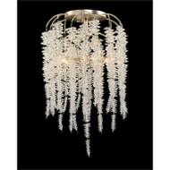 Cascading Crystal Six-Light Semiflush